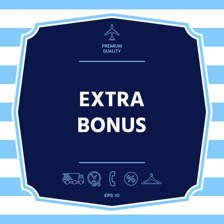Extra bonus - button. Graphic elements for your design