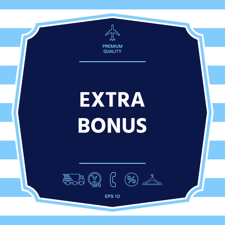 Extra bonus - button. Graphic elements for your design