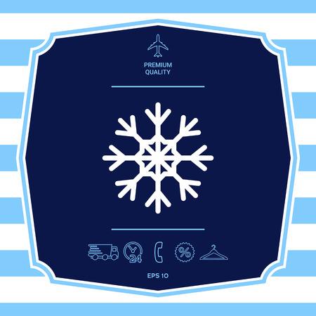 Snowflake symbol icon Illustration