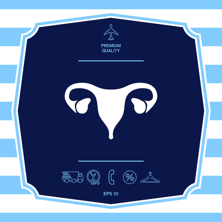 Human organs. Female uterus silhouette symbol