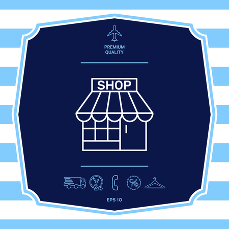 Shop icon symbol. Graphic elements for your design