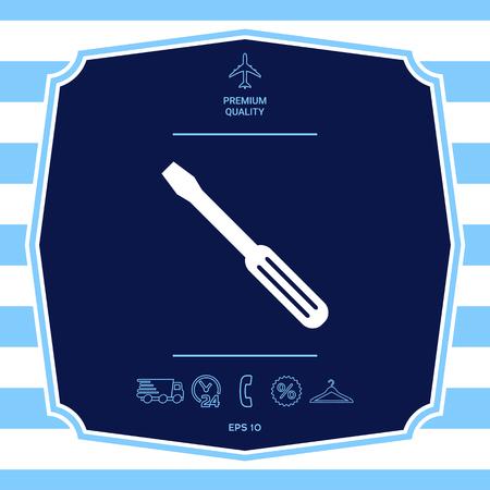 Screwdriver symbol icon