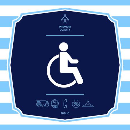 Wheelchair handicap icon Stock Photo