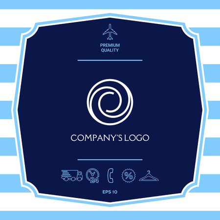 Logo - two spirals in circle - a flower bud, camera aperture