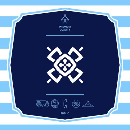 Geometric oriental pattern. Logo.