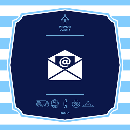 Email symbol icon. Element for your design