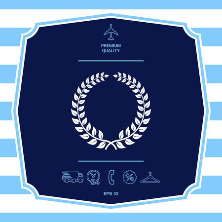 Laurel wreath - design symbol Stock Photo