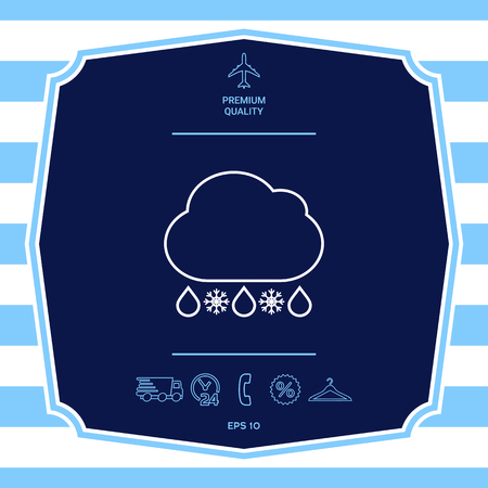 Cloud rain snow line icon. Element for your design