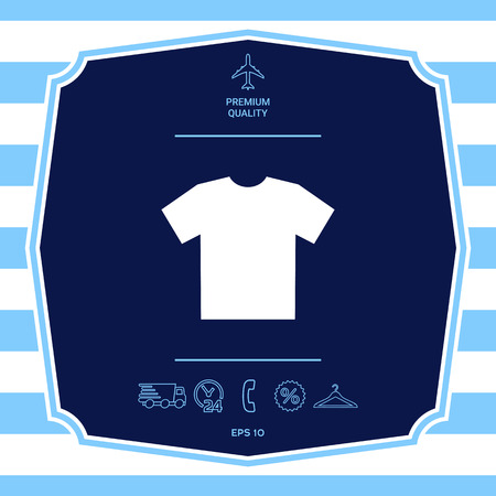 Mens T-shirt icon , the silhouette.