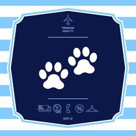 Paws symbol icon Stock Illustratie