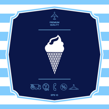 Ice cream symbol Illustration