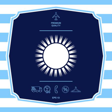 Sun symbol icon