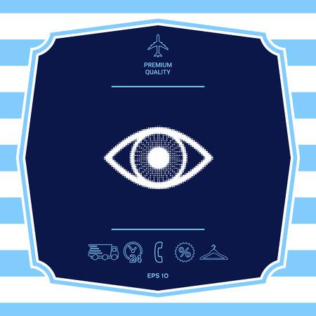 Eye - halftone symbol