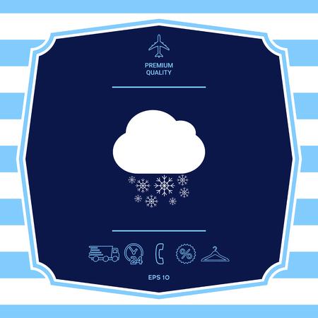 Cloud snow icon. Element for your design Ilustrace