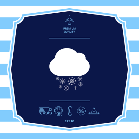 Cloud snow icon. Element for your design Illustration