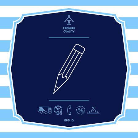 Pencil - linear icon Illustration