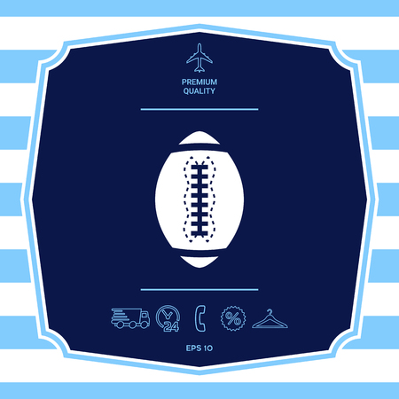 American Football Ball icon. Element for your design Stock Photo