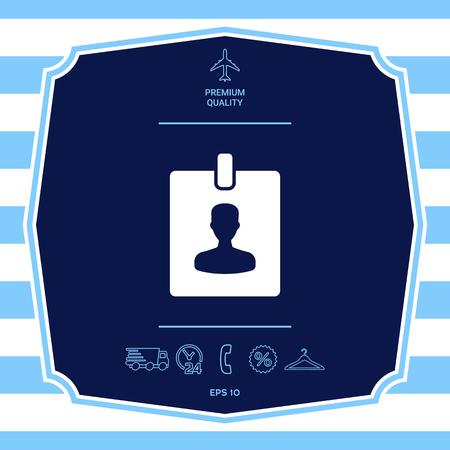 Badge symbol icon. Element for your design