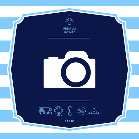 Camera symbol icon. Element for your design