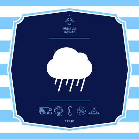 Cloud rain icon. Element for your design