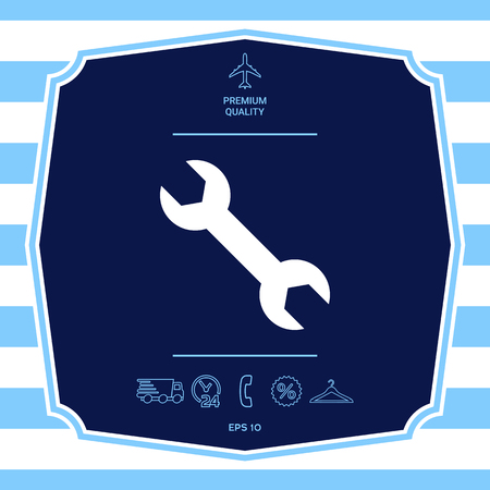 Wrench icon. Graphic elements for your design
