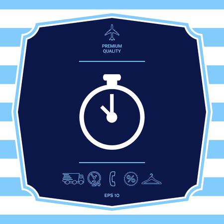 Stopwatch symbol icon
