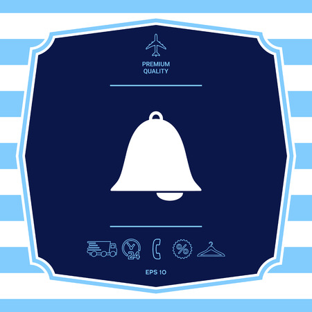 Alarm bell symbol icon. Element for your design