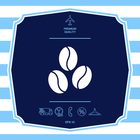 Coffee beans line icon. Element for your design
