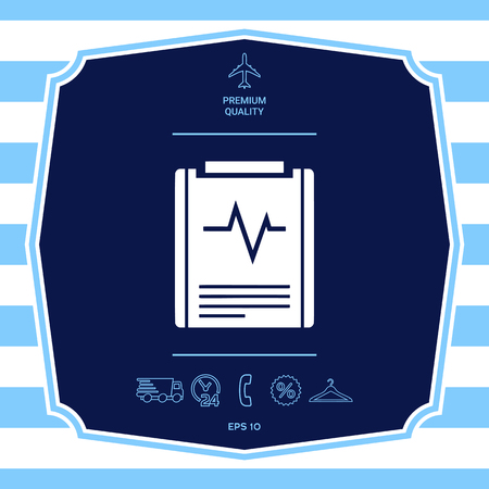 Electrocardiogram symbol icon. Element for your design Illustration