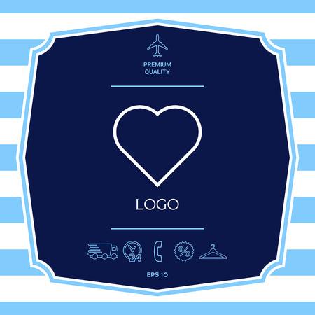 Logo - a heart Ilustracja
