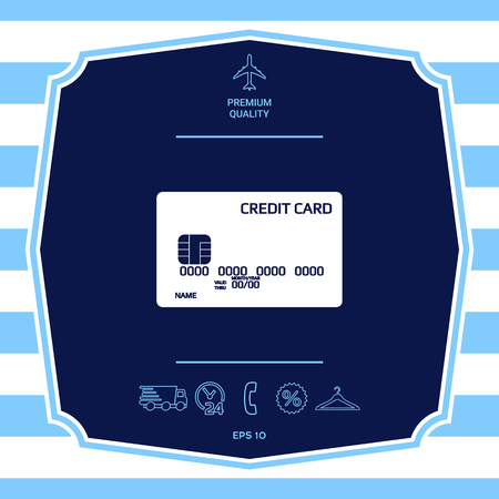 Credit card icon. Element for your design
