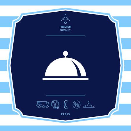 Restaurant Steel Serving Tray. Ilustrace