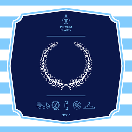 Laurel wreath - elegant symbol for yor design Illustration