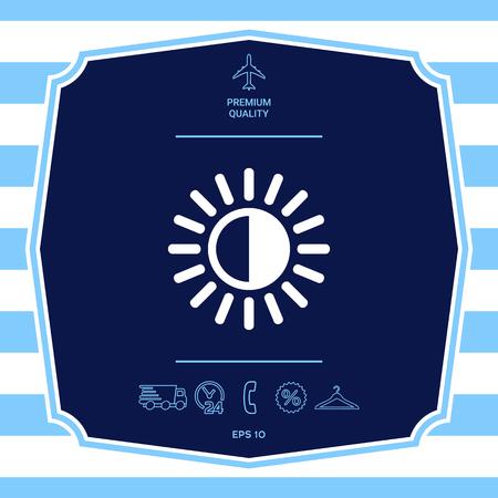Icono de símbolo de brillo. Elemento para su diseño.