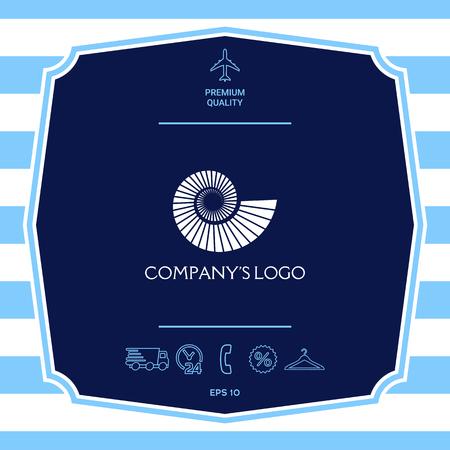 Logo spiral, shell symbol Logo