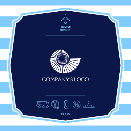 Logo spiral, shell symbol Illustration