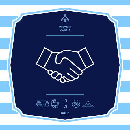 Handshake line icon Illustration