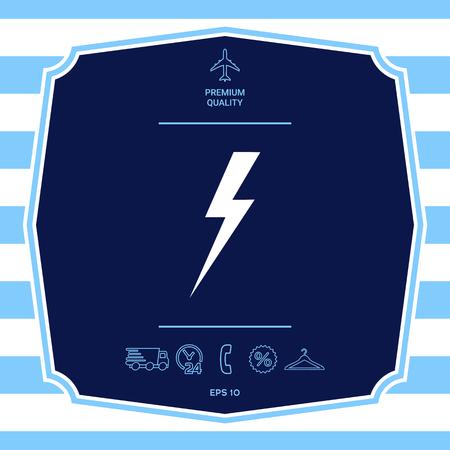 Thunderstorm lightning icon Illustration