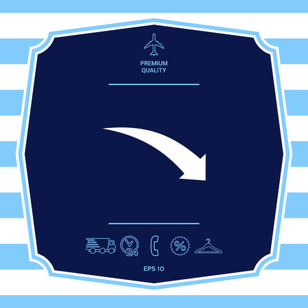 Arrow down icon. Element for your design