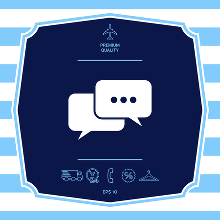 Chat symbol icon. Element for your design Stock Photo