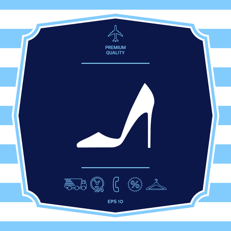 Elegant women shoe. Menu item in the web design