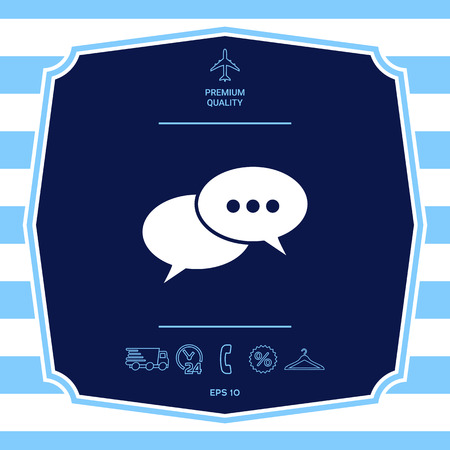 Chat sign icon. Element for your design Stock Photo