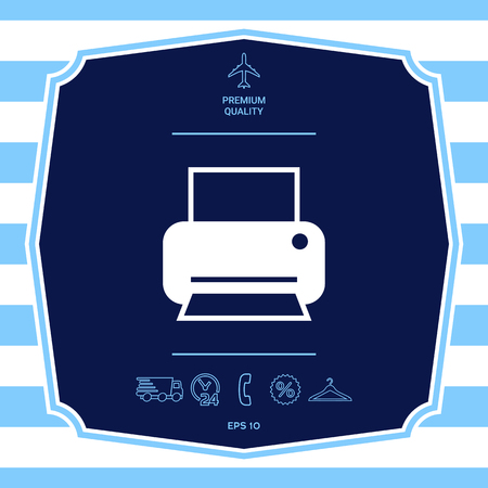 Print icon for web