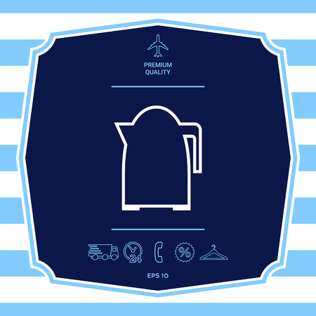 Kitchen Kettle linear icon