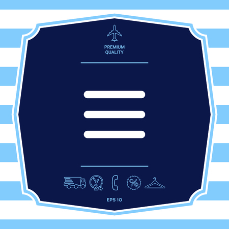 Menu symbol Icon
