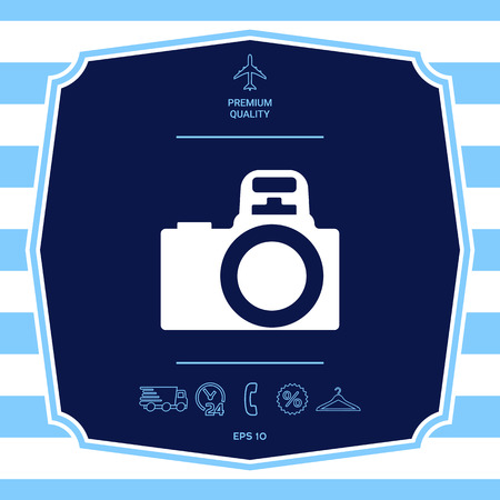 Camera symbol icon. Element for your design
