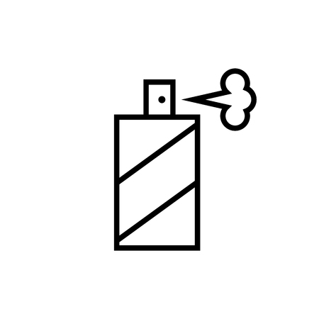 Spray bottle line icon. Signs and symbols for your design Illustration