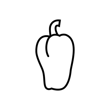 Bell pepper icon. Signs and symbols for your design Banque d'images - 124265189