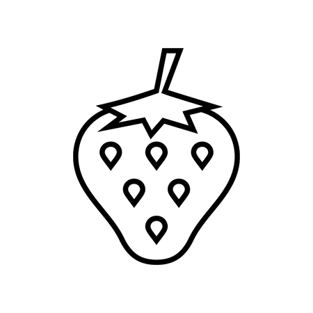 Strawberry line icon. Signs and symbols for your design Banque d'images - 124265194