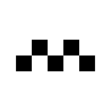 Taxi sign icon - Chequered pattern. Signs and symbols for your design Banque d'images - 124265195